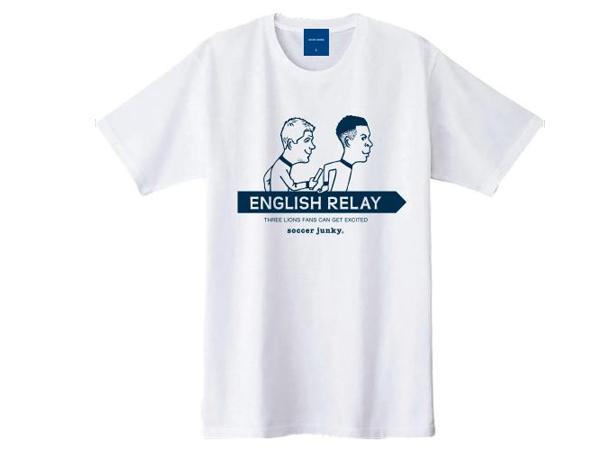 サッカージャンキー:ENGLISH RELAY 半袖 TEE